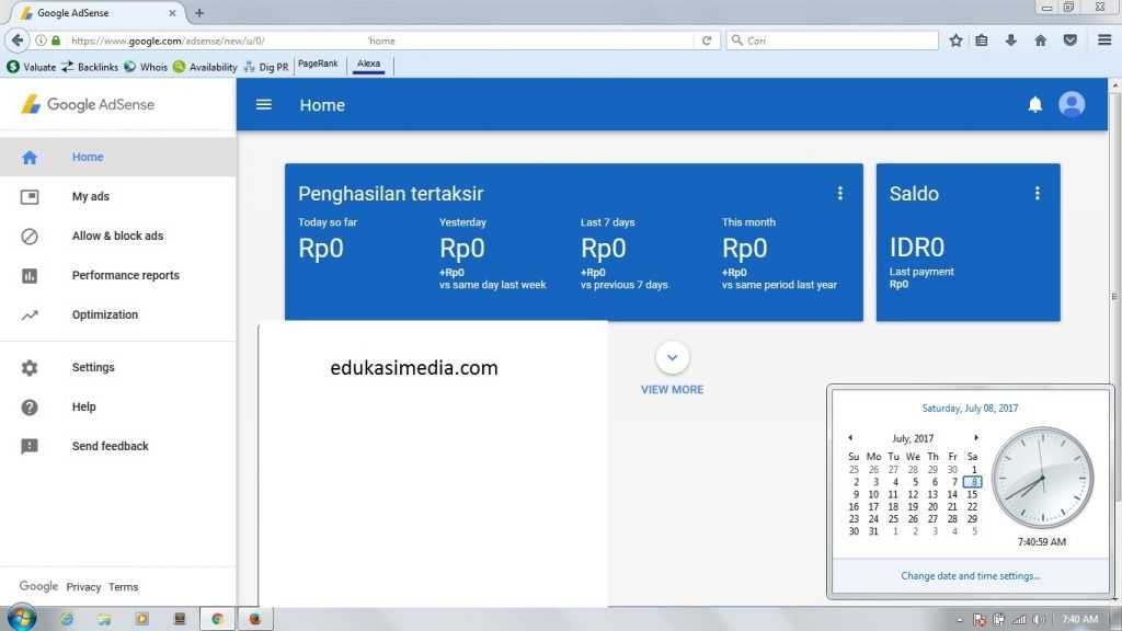 Cara Daftar Google AdSense Full Approved